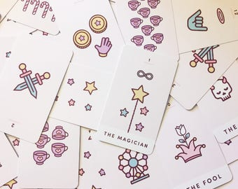 Kawaii Tarot Card Deck (78 Cards) CUTE