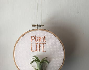 Plant Life- AirPlant Embroidered Hoop