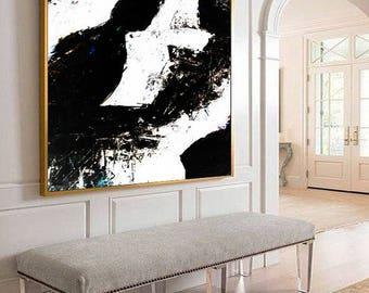 Black and White Art, Minimal Large Art, Canvas Abstract, Black white painting, Large Art Painting, Acrylic Art, Handmade Large Art, Painting