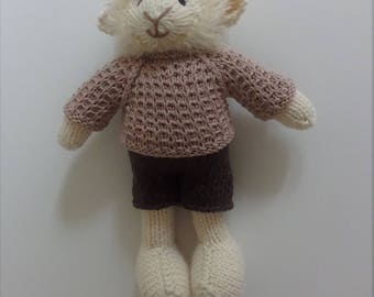 Knitted Boy Lamb, Sheep