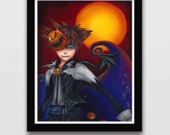 Kingdom Hearts Vampire Sora ( Art Print)