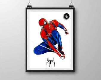 Spiderman PS4 - A4 Matte Print