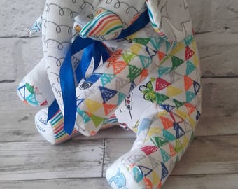 Memory Keepsake Elephant - Baby Clothes, School Uniform, Sports Kit, Christmas Gift, birth weight, weighted, cherished clothing