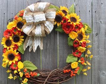 Large Summer Wreath