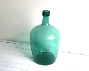 Hand blown old french antique glass vase / bottle
