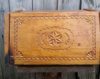 Vintage Wooden Bread Box, Handmade Bread Box, Carved Bread Box, Box For  Kitchen