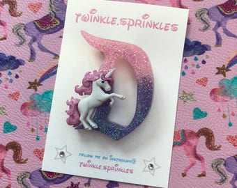 Magical unicorn Disneyland D inspired brooch / necklace
