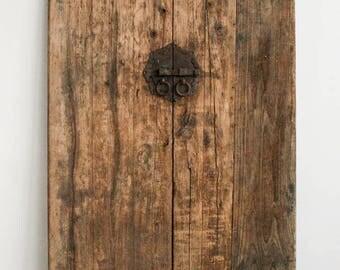 Pair of authentic Chinese Shanxi doors - Original Antique wooden doors