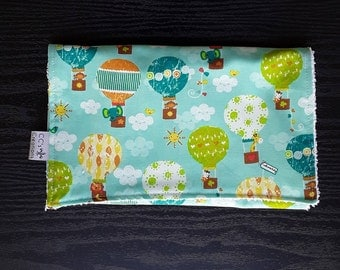 Hot Air Balloons Cotton Burp Cloth; Gender Neutral Burp Cloth; Baby Girl Burp Cloth; Baby Boy Burp Cloth