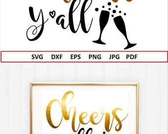 Cheers SVG 2018 Svg file New Years Svg Hello 2018 SVG NYE Svg New Years Eve shirt cut file New Years Iron on file Silhouette New Years Decor