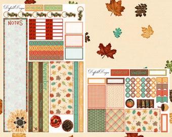 November Monthly Sticker Kit // Planner Stickers // Mini Happy Planner