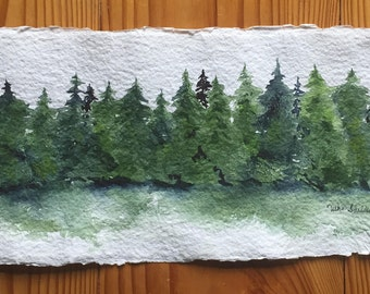 "An Original Watercolor, ""Into the Woods"""