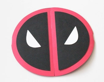 Deadpool Invitations | Deadpool Symbol | Marvel | Other Colors Available