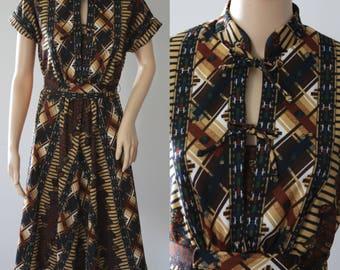 Cute 70s Plaid Dress