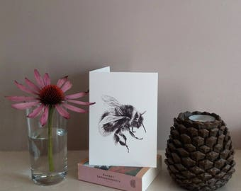 Bee greetings card   bee card   greetings card   bee illstration   birthday