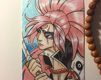 Baiken (Guilty Gear) Sketch Card