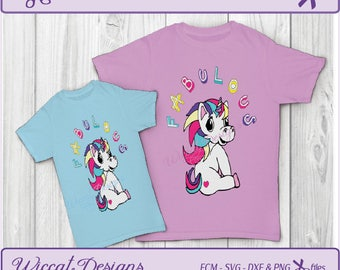 Unicorn svg, Fabulous svg, girls shirt svg, Rainbow svg, fcm files, scanncut, pony svg, vinyl cut file, cut files for cricut, birthday svg,