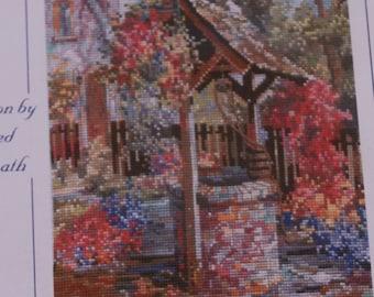 The Wishing Well Garden - Marty Bell's - Cross Stitch Pattern - 1998.
