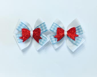 Dorothy Wizard of Oz Hair Bows