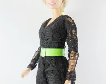 Beautiful Barbie Clothes, Handmade short jumpsuits, Classic black color for barbie