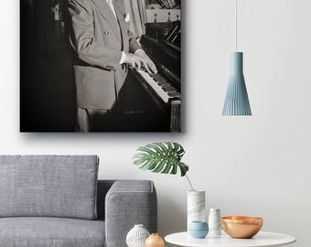 Duke Ellington Photo, Jazz Musician Portrait, Washington DC, 1946, Band Poster, Black and White Photography, African American Art