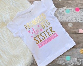 Big Sister shirt big sister shirt big sister announcement new arrival big sister shirt little sister shirt shirt siblings shirt