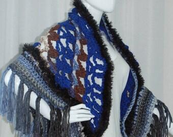 Crochet Multi Colored Shawl