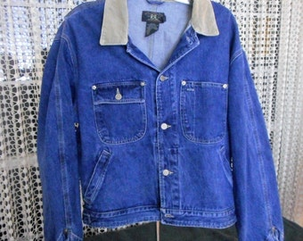 Vintage Double  RRL  Jean Jacket  By Ralph Lauren like new