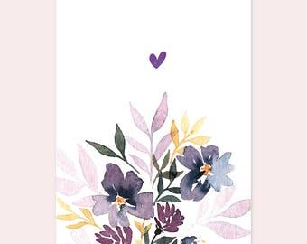 "Postcard ""Wild Flowers Love"""