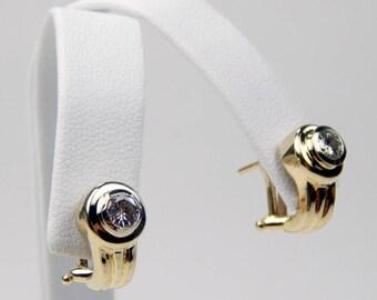 14k gold .50 Ctw diamond earrings #10651