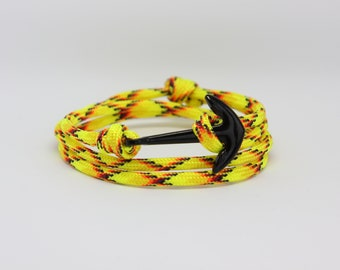 Yellow Anchor Bracelet by NEVETdesigns | Climbing Rope Bracelet | Mens Bracelet | Paracord Bracelet | Gift for Him
