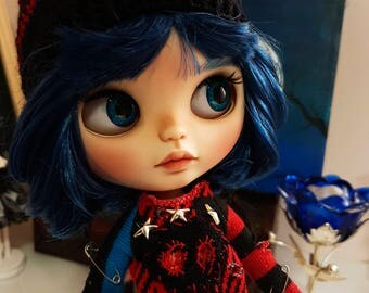 Blythe TBL OOAK (cabello Azul) Seph by Dark Mermaid