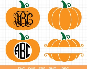 Pumpkin svg etsy for Monogram pumpkin templates
