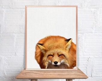Fox wall art / Fox home decor / Fox Print / Fox / Fox Art / Fox Wall Decor / home decor Fox #81