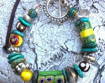 Tribal Bracelet, Tribal Jewelry, African Trade Bead, African Bracelet, Ethnic Jewelry, Ethnic Bracelet, Boho Bracelet, Tribal Style, Boho