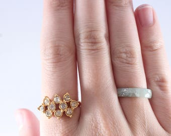 Gold Tone White Cz Stone Ring Size 9