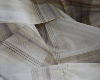 silk Organza, checked design, 3.5m x 1.52