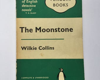 "Iconic 1960s copy of ""The Moonstone"" by Wilkie Collins, widely labelled as one of the first detective novels"