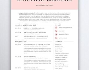 Cna Resume Etsy - Professional cna resume