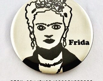 Frida Kahlo Icon Pin