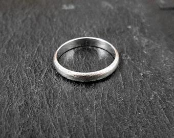 Sterling Silver Wedding Band - Size 5.75 - Vintage