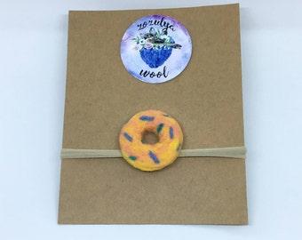 Multicolored Donut Headband,Baby Headband,Gift,Felted Headband,Hand Felted Headband,Wool Headband,Wool Accessories,Donut,Wool,Headband