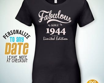 Fabulous since 1944, 74th birthday gifts for Women, 74th birthday gift, 74th birthday tshirt, gift for 74th Birthday,