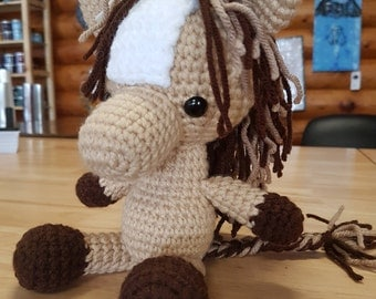 Amigurumi crochet stuffed horse