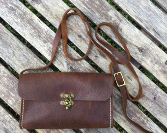 Crossbody Purse - Bison Leather