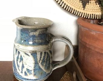 Beautiful handmade stoneware pitcher