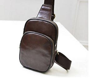Men's Leather Bag Shoulder Cross - Bandolera de Cuero para Hombres