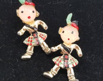 Very Cute Scottish Pins!  Kilt-Wearing Brooches will Make a Statement to your Wardrobe!