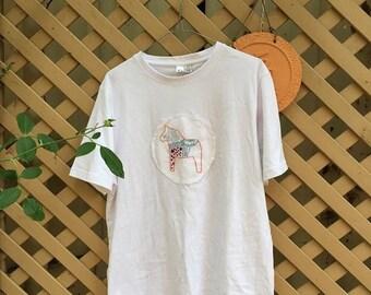 Embroidered Dala Horse Shirt