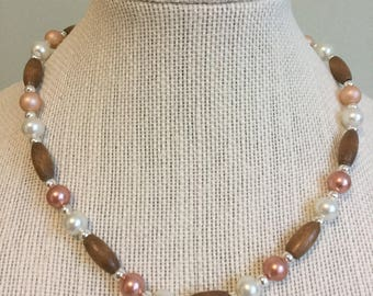 """Upcycled Jewelry """"Perfect"""" Beaded Necklace - Made with Vintage/ Recycled Materials"""